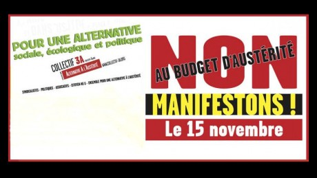 MANIFESTATION CONTRE L'AUSTERITE le 15 novembre