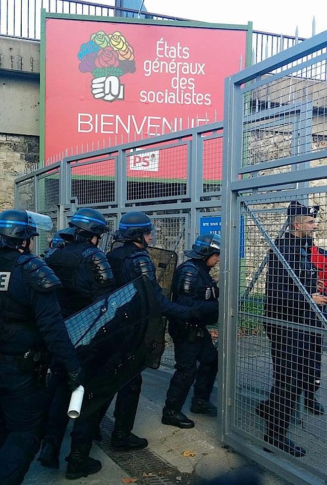 États généraux du PS : les socialistes accueillent les chômeurs à coups de matraque et de taser !