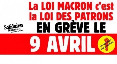 Contre l'austérité : Toutes et tous en grève le 9 avril !