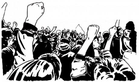 Grève et manifestation interpro contre l'austérité et la loi Macron, à Strasbourg.