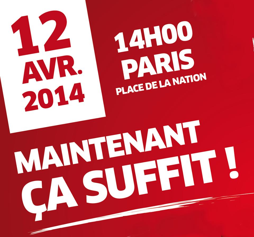 """Tous-tes à Paris le 12 avril contre l'austérité et le """"gouvernement de combat"""" antiouvrier"""