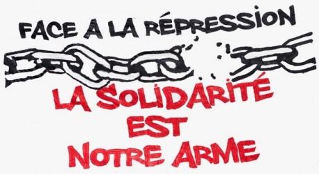 Halte à la répression – Solidarité avec la militante CGT inculpée !