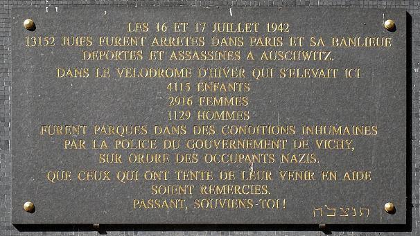 16-17 juillet 1942: la rafle du Vel d'Hiv