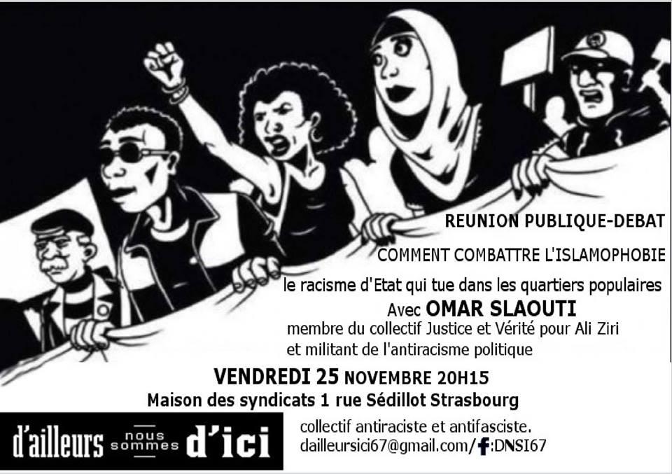 25/11 : Réunion publique-débat : Comment combattre l'islamophobie