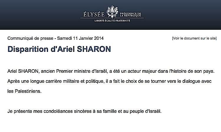 Version française raccourcie de l'histoire officielle. Les victimes du criminel Sharon apprécieront…