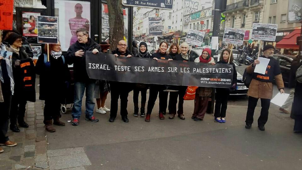 Une action pour l'embargo militaire d'Israël