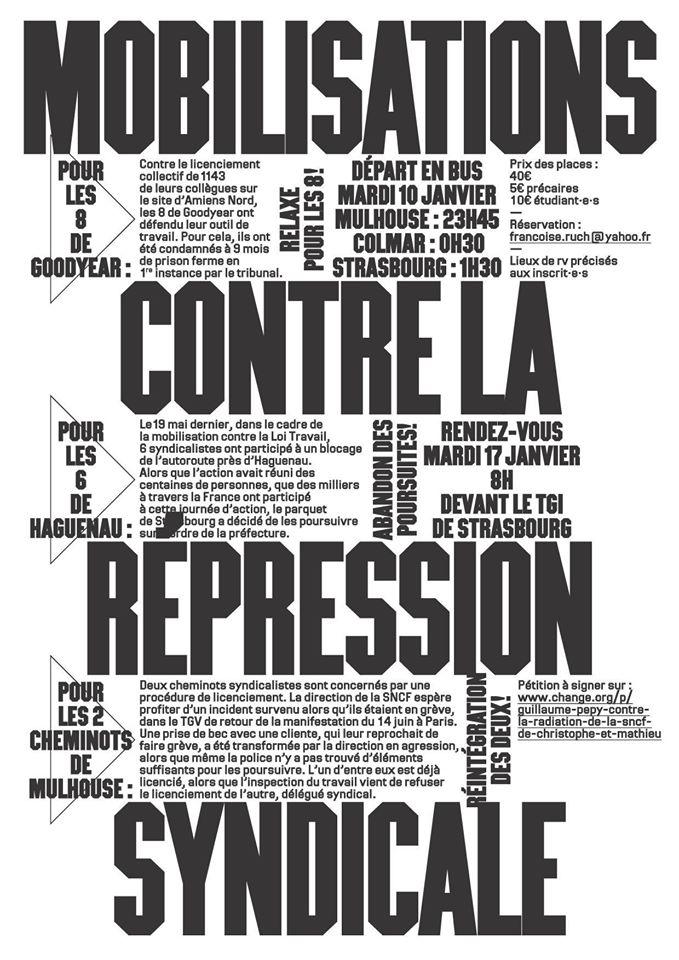 Mobilisation(s) contre la répression syndicale