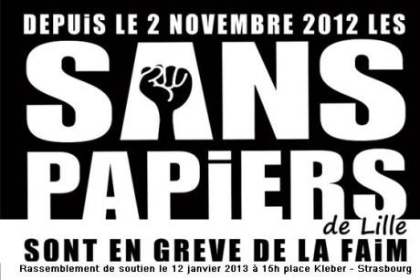 Rassemblement de soutien aux sans papiers de Lille