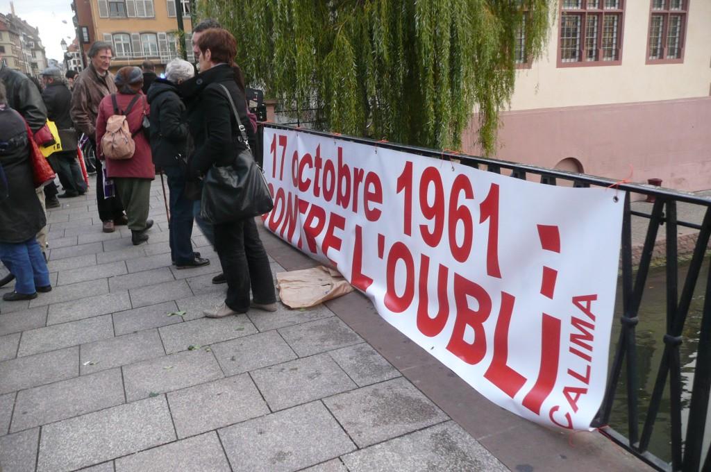 Commémoration à Strasbourg du 17 octobre 1961