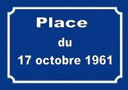 Inauguration de la place du 17 octobre 1961 à Strasbourg