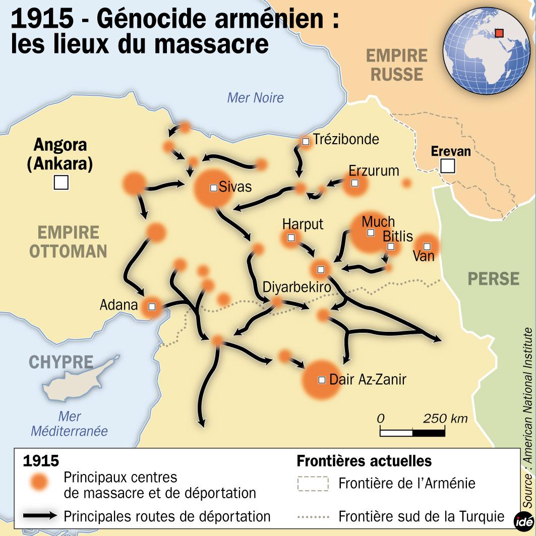 Commémoration du génocide des Arméniens à Strasbourg le 24 avril 2014