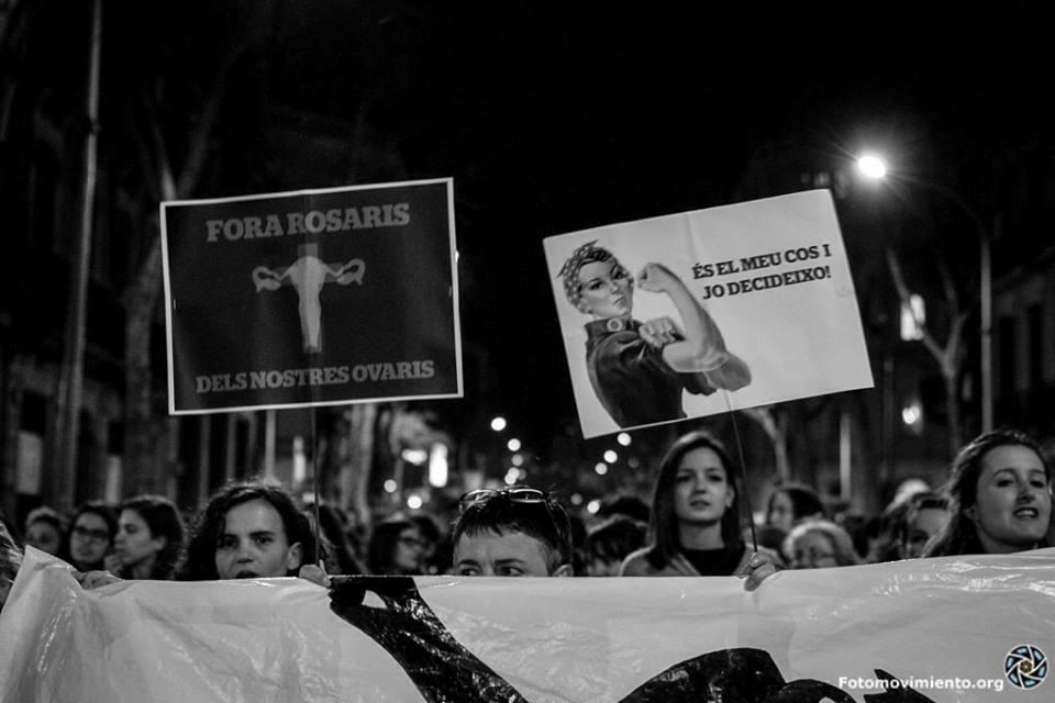 Manifestation à Barcelone pour la gratuité de l'IVG (12/02/2014)