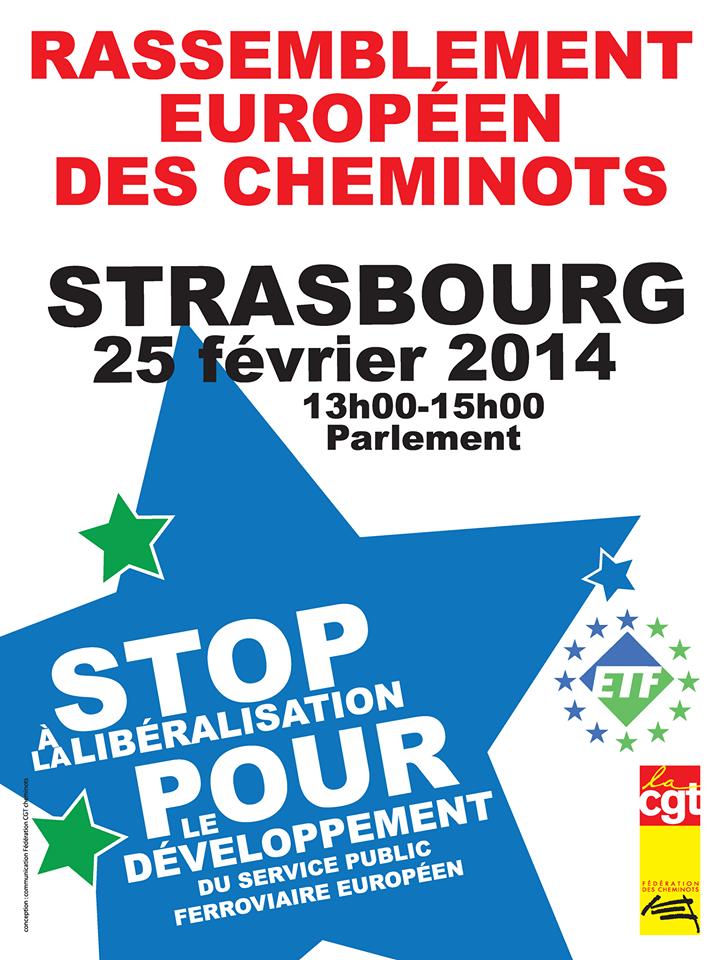 Rassemblement européen des cheminots à Strasbourg