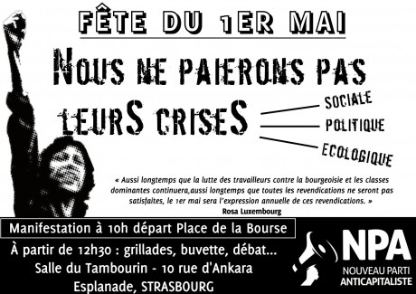 1er mai anticapitaliste et internationaliste à Strasbourg