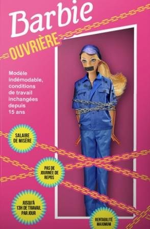 """Une """"Barbie ouvrière"""" contre les mauvais traitements chez Mattel"""