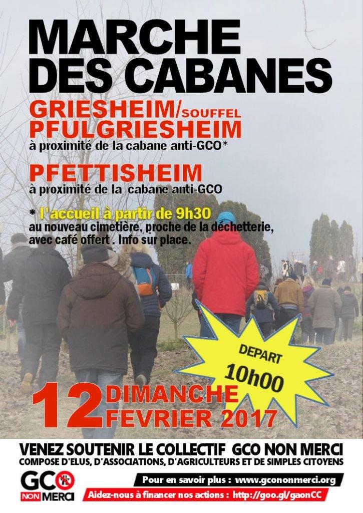 12/02 : 5ème Marche des cabanes anti-GCO, de Griesheim/Souffel à Pfettisheim