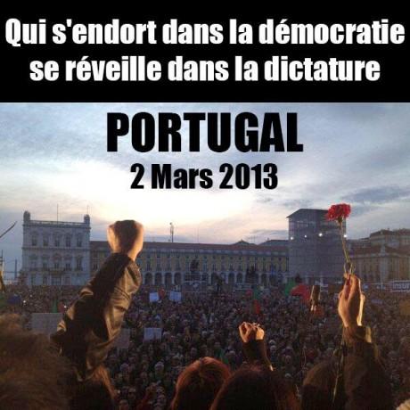 Un million et demi de Portugais dans la rue contre l'austérité ce jour