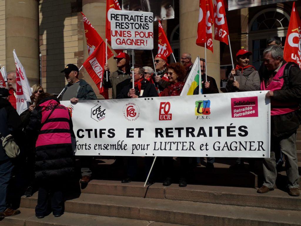 Manifestation des retraités à Strasbourg