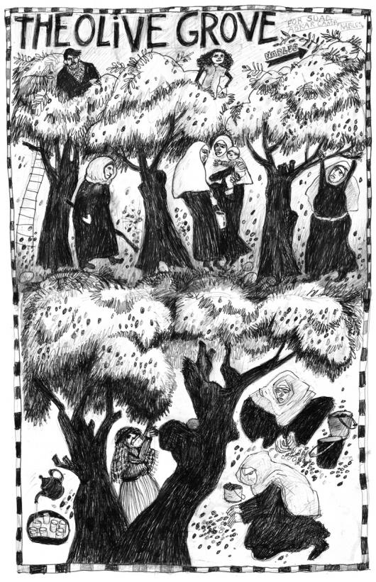 L'oliveraie : un récit graphique de Xero, artiste-activiste pro-palestienne