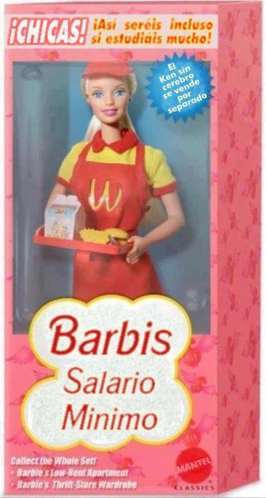 """Humour espagnol : Barbie """"salaire minimum"""" !"""