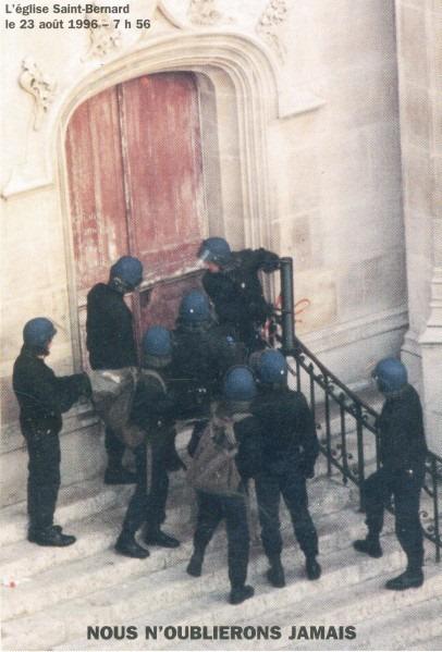 Commémoration de l'évacuation de l'église Saint Bernard le 24 Août 2013