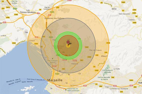 Simulez les conséquences d'une explosion nucléaire près de chez vous