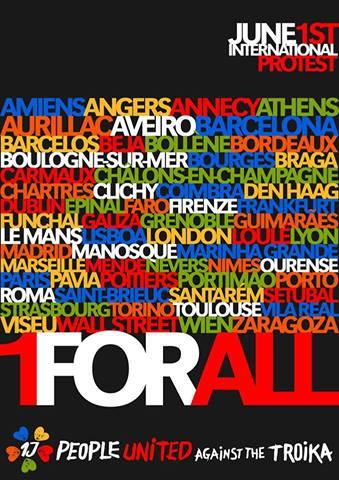 Manifestation internationale le 1er juin : Les peuples unis contre la troïka