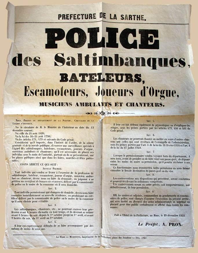 Le traitement administratif des Gens du voyage en France – Deux siècles de législation spécifique 1789 – 2013