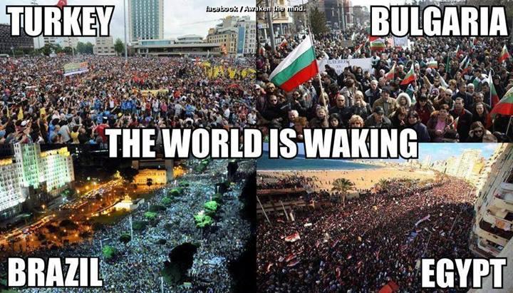De Taksim et de Rio à Tahrir, l'odeur des gaz lacrymogènes