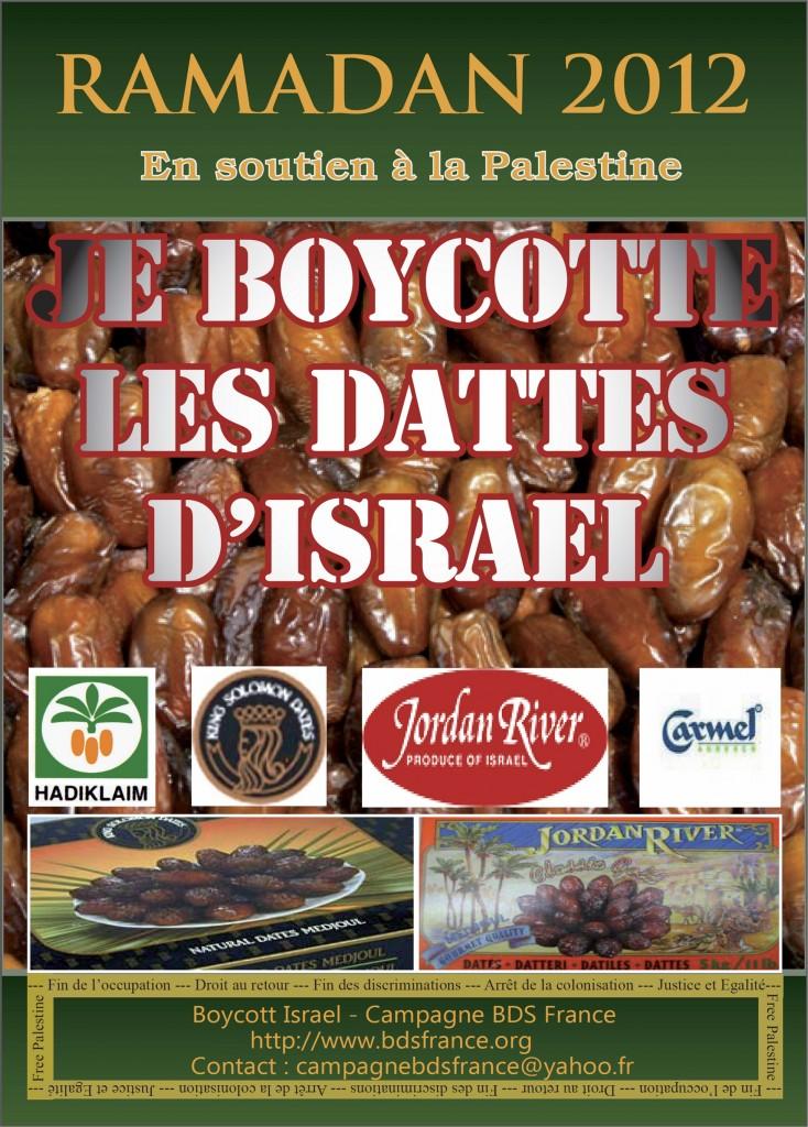 """Boycot des dattes """"israéliennes"""" produites en Palestine occupée"""