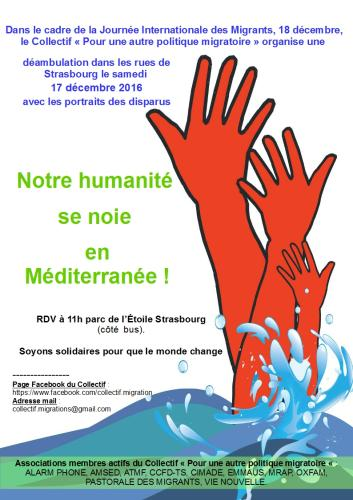 Notre humanité se noie en Méditerranée