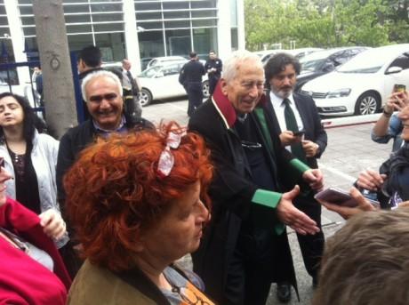 Alp Selek père de Pinar devant le tribunal à Ankara