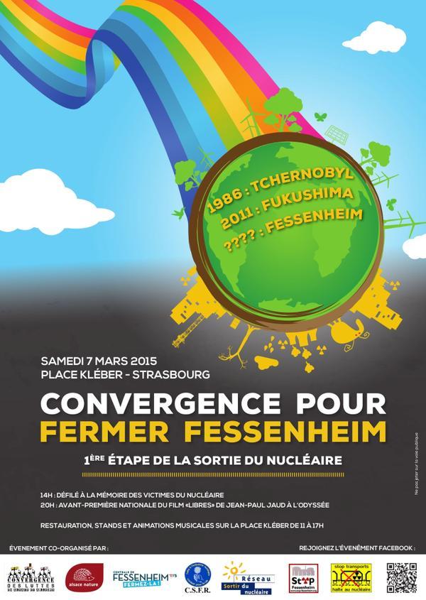 Convergence le 7 mars à Strasbourg pour fermer la centrale nucléaire de Fessenheim