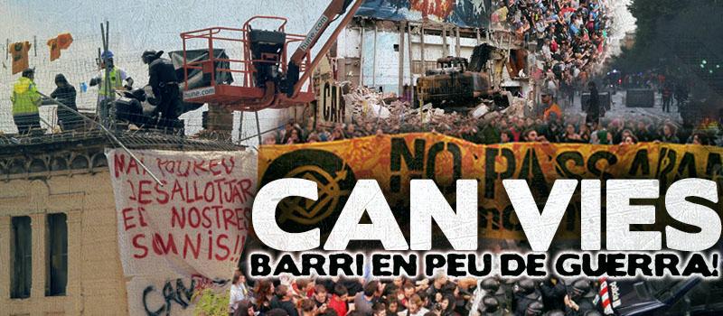 Barcelone : après les émeutes, la reconstruction autogérée ! CAN VIES NO ES TOCA !