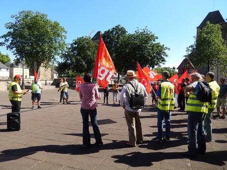 Territoriaux en grève devant le Conseil général du Bas-Rhin