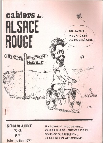 Cahiers de l'Alsace Rouge n° 3 juin-juillet 1977 001