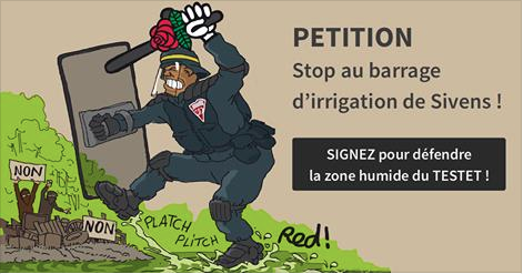PÉTITION : Stop au barrage d'irrigation de Sivens !