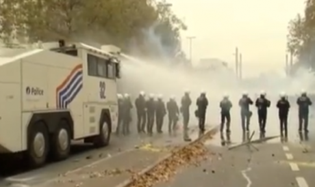 Bruxelles : violences policières contre manifestants anti-austérité (6 novembre 2014)