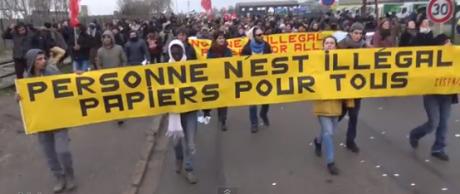 Vidéo: Manifestation des migrants à Calais le 23 janvier 2016
