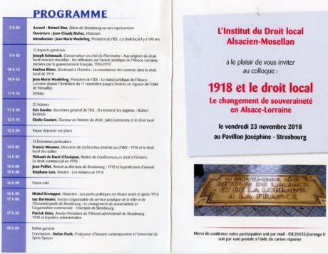 Un Colloque Droit local d'Alsace-Moselle d'actualité