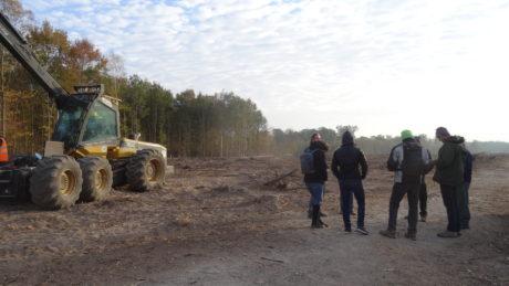 Après cinq jours de blocage, les engins de déforestation ont quitté la forêt de Vendenheim!