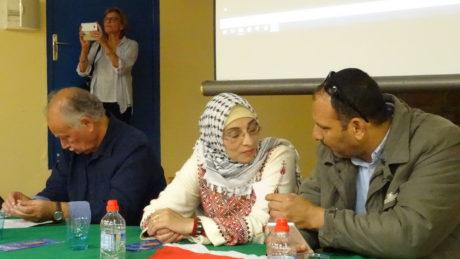 La famille de Razan, assassinée par l'armée israélienne,  à Strasbourg