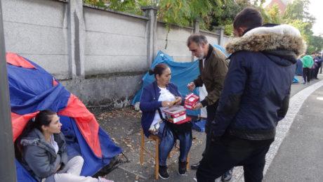 Encore des migrants à la rue à Strasbourg!