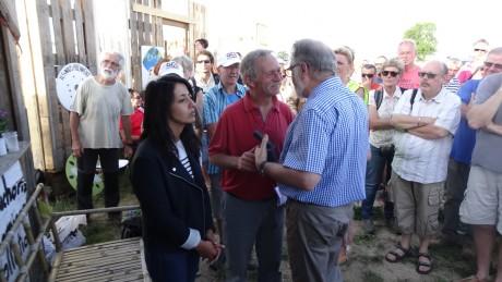 Avec José Bové, et les Bischnoïs, à Kolbsheim, contre le GCO