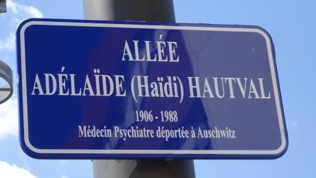 Allée Adélaïde Hautval, inaugurée à Strasbourg