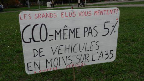 Pour un avenir sans GCO, manifestation à Strasbourg
