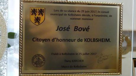 GCO: José Bové, citoyen d'honneur de Kolbsheim, sur la ZAD du Moulin