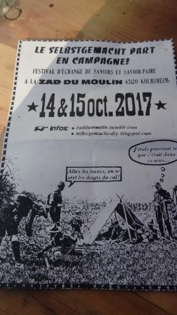 GCO: week-end Selbsgemacht à la ZAD du Moulin de Kolbsheim