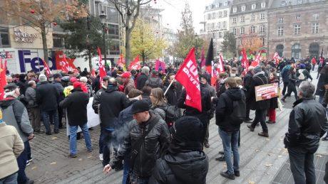 Manifestation intersyndicale du 16 novembre 2017 à Strasbourg