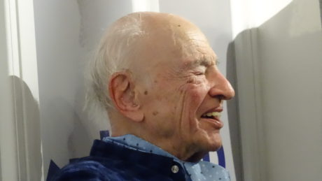 Edgar Morin à la librairie Kléber